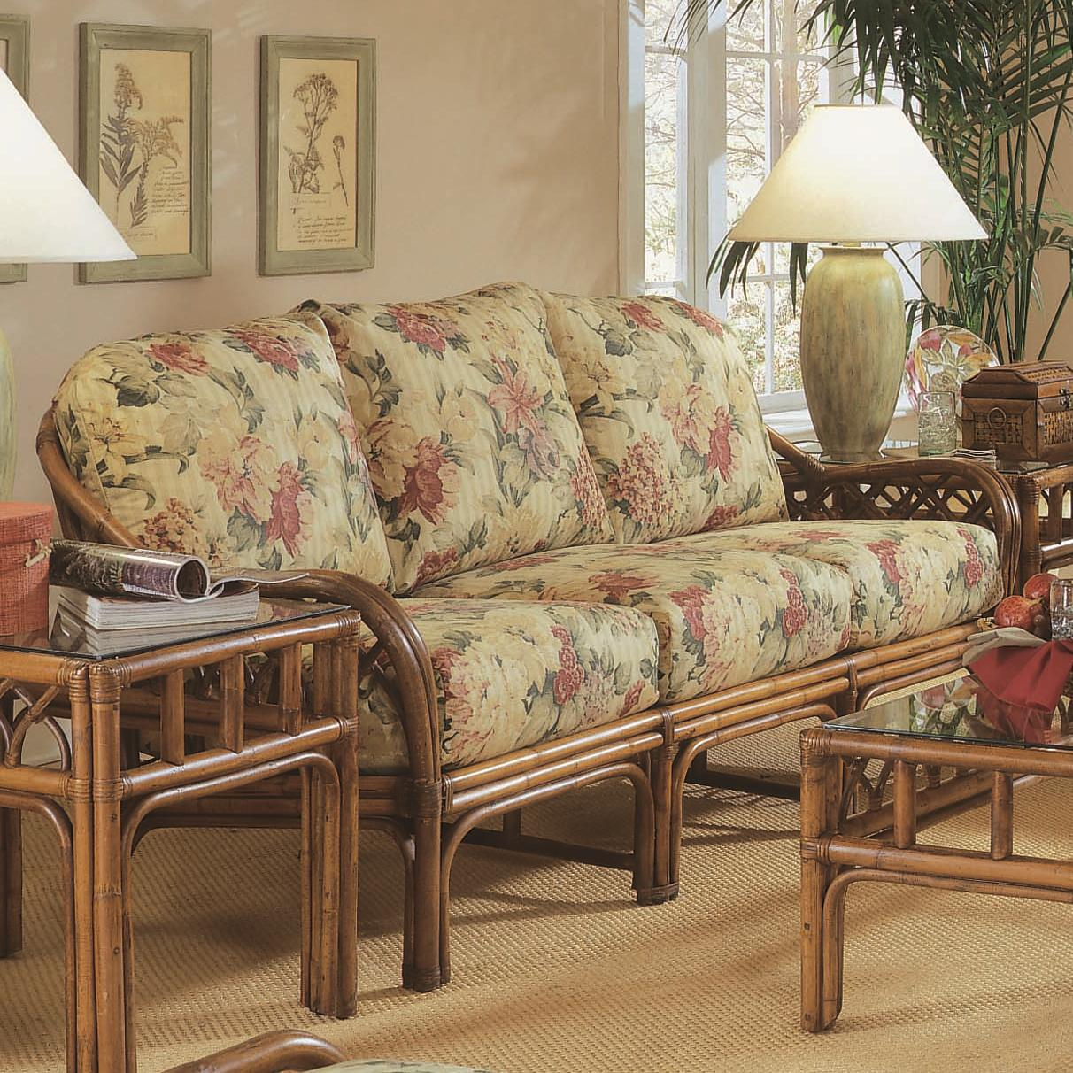 braxton sofa table power reclining not working culler edgewater 914 011 tropical rattan with