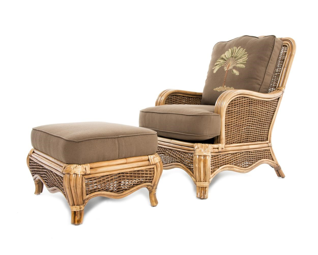 braxton sofa table where to place in living room as per vastu culler shorewood tropical rattan chair and ottoman