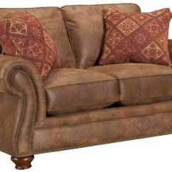 Broyhill Laramie Sofa Fabric Fluffy Bed Express Quick Ship Loveseat With Nailhead