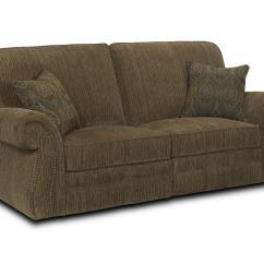 Flexsteel Capitol Double Reclining Sofa Plush Bed Traditional Laudes Miles