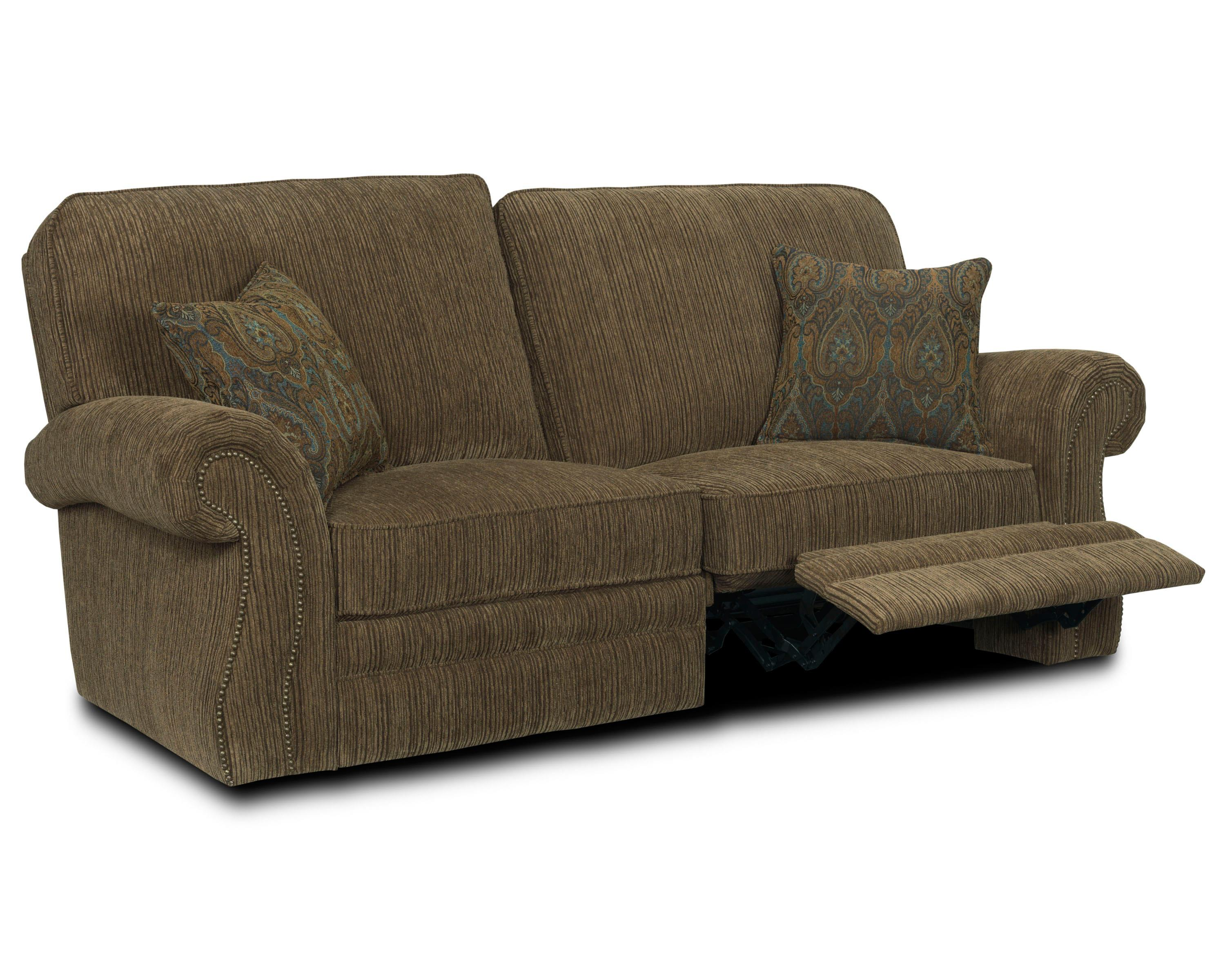 rolled arm sofa with nailhead trim faux lane billings 256 59 traditional power reclining