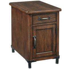 Chair Side End Table Round Pod Broyhill Furniture Saluda Chairside Chest With Magazine