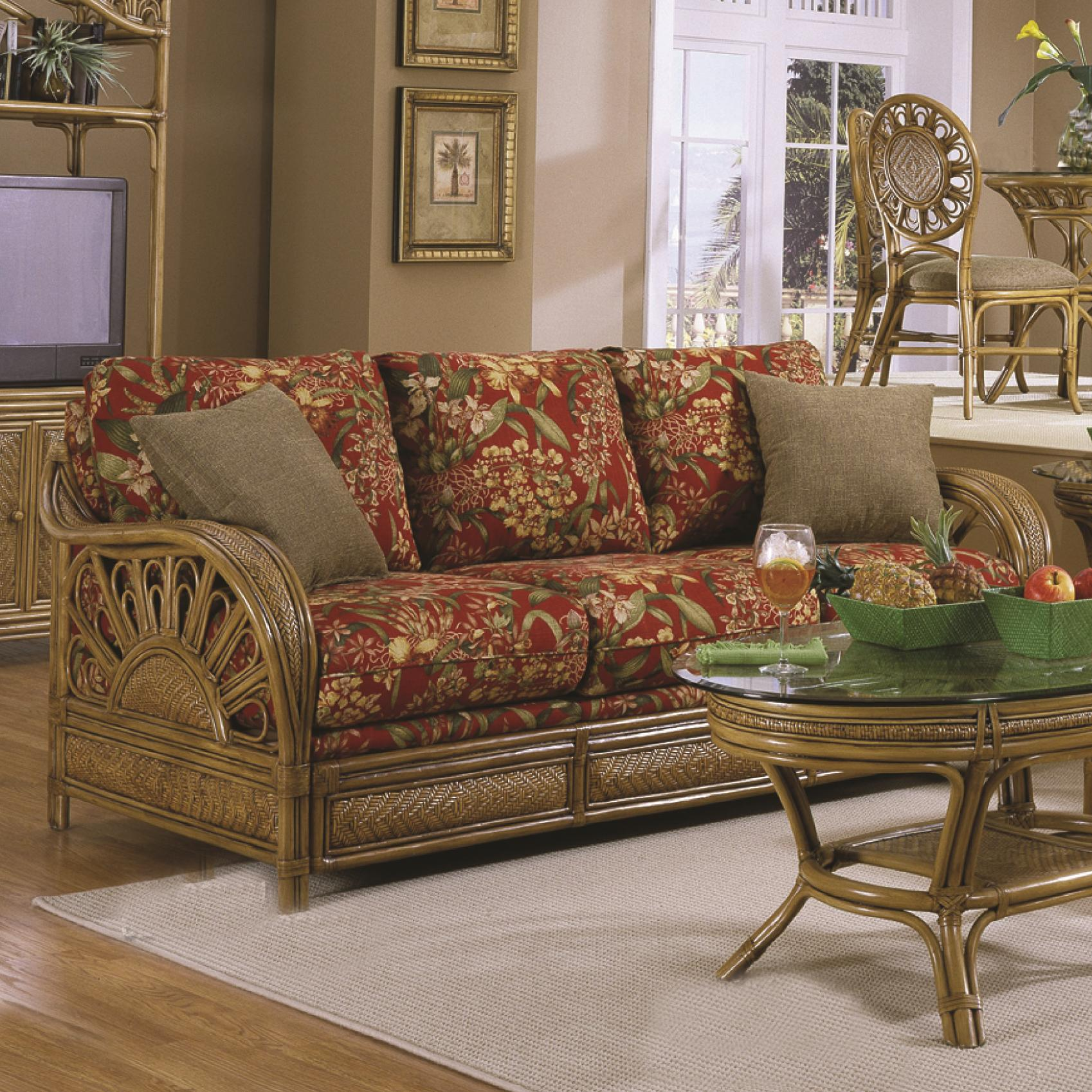 howell sofa living room ideas with dark brown leather sofas capris furniture 321 collection wicker rattan framed