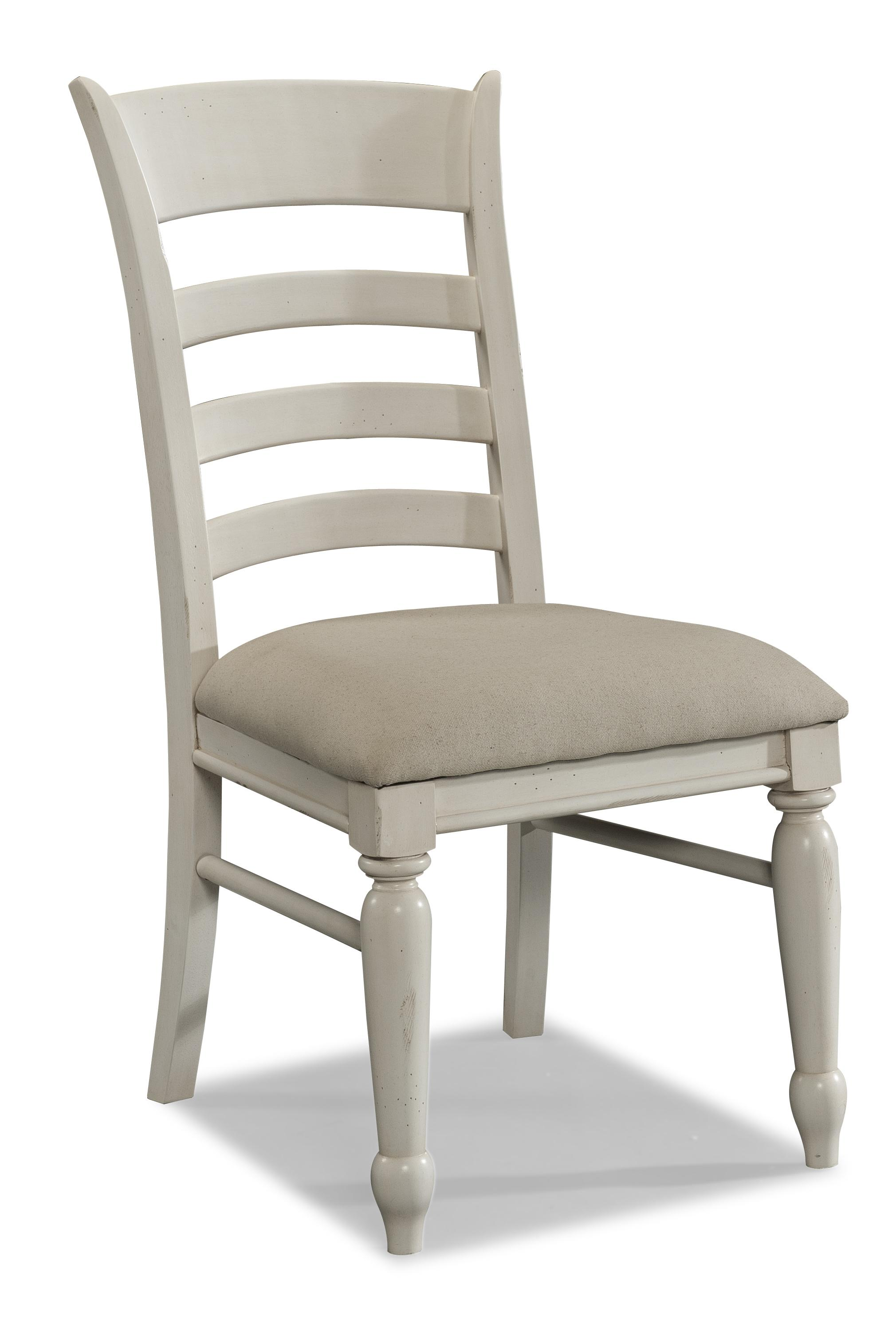 White Ladder Back Chair Carolina Preserves By Klaussner Sea Breeze White Ladder