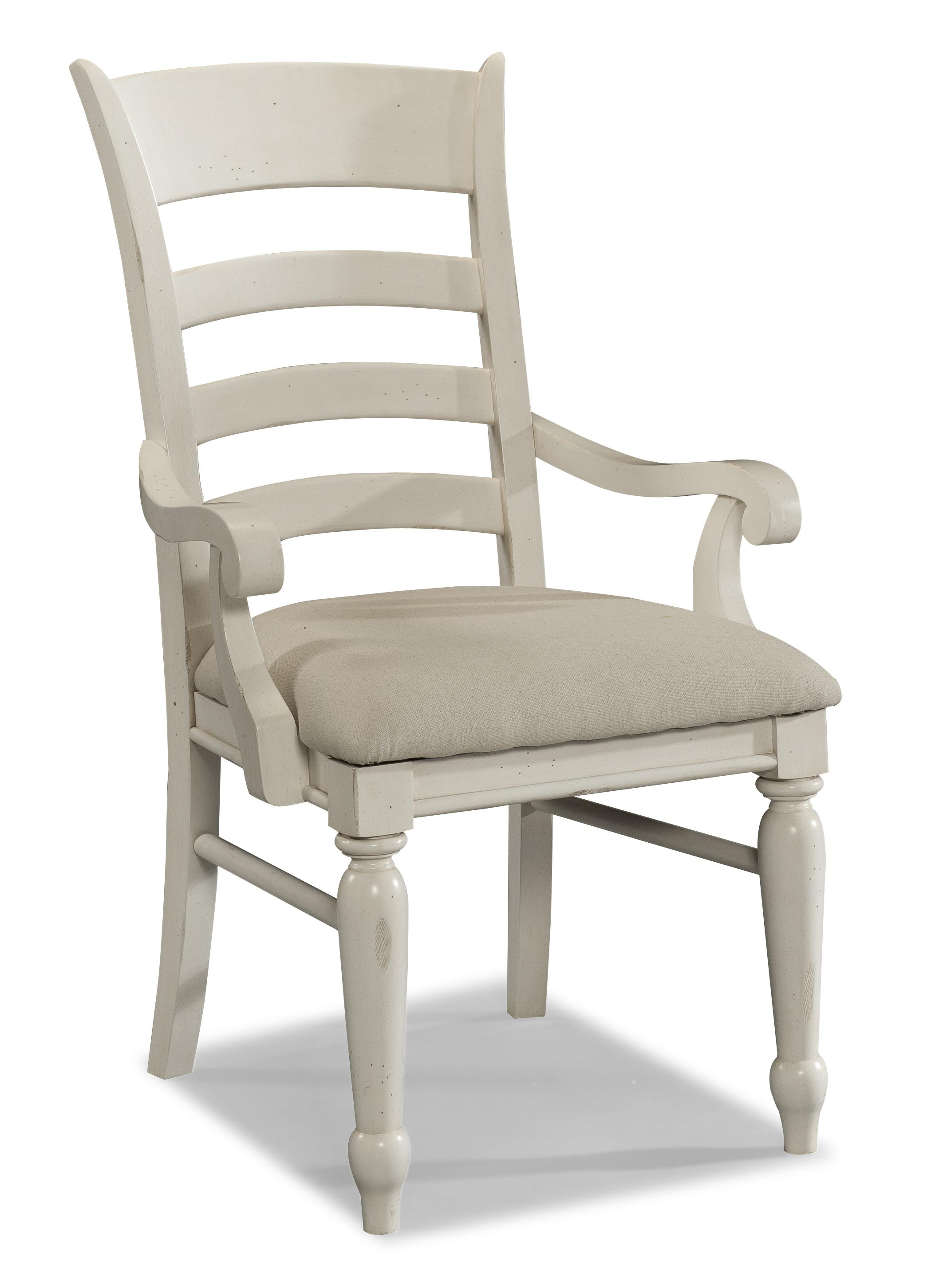 White Ladder Back Chair Carolina Preserves By Klaussner Sea Breeze 424 906 Drc