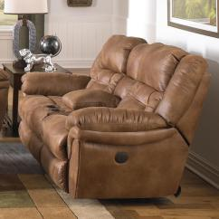 Catnapper Sofa And Loveseat Pillows For Cream Leather Joyner 64259 Lay Flat Power Reclining Console