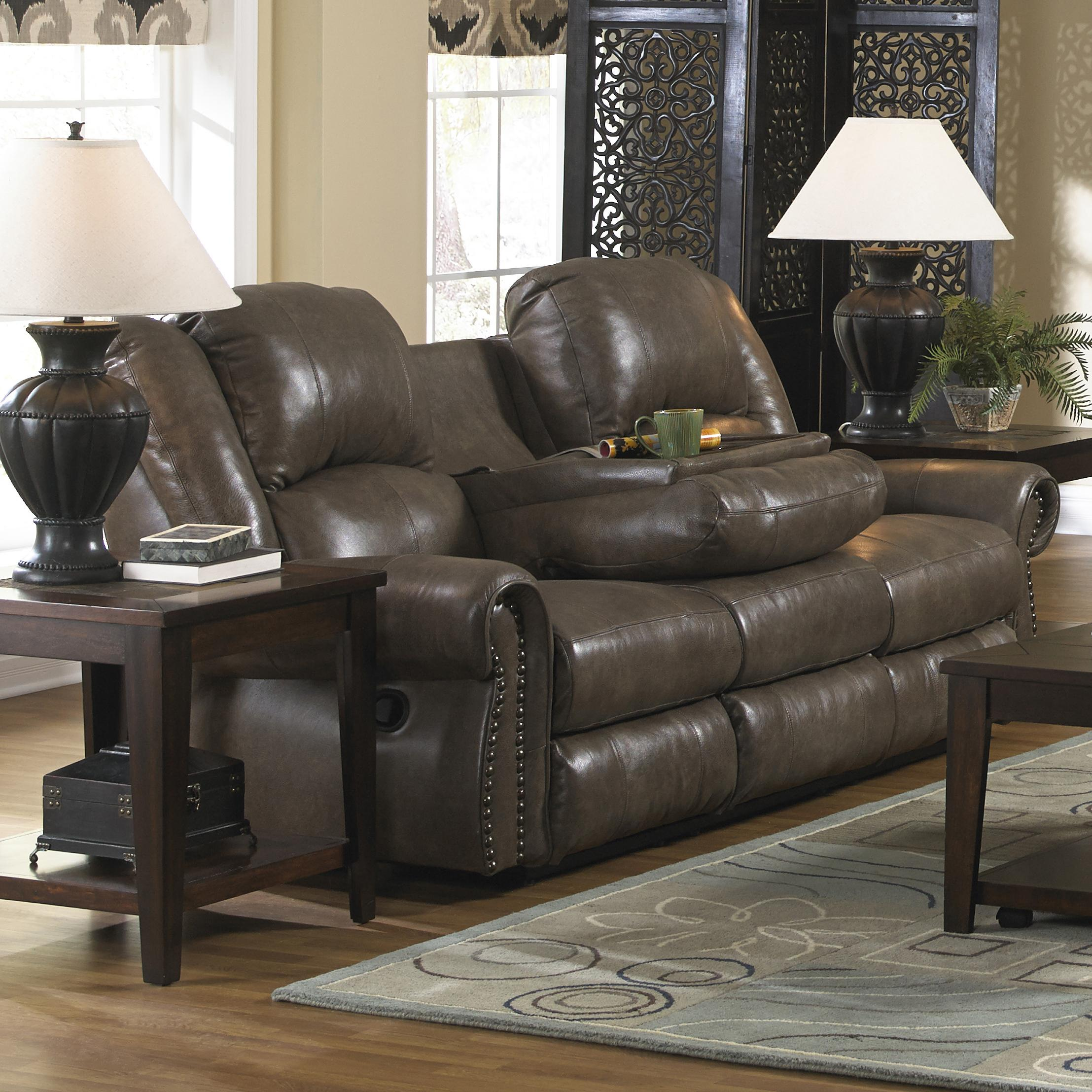 double reclining sofa with fold down table leather lips  thesofa