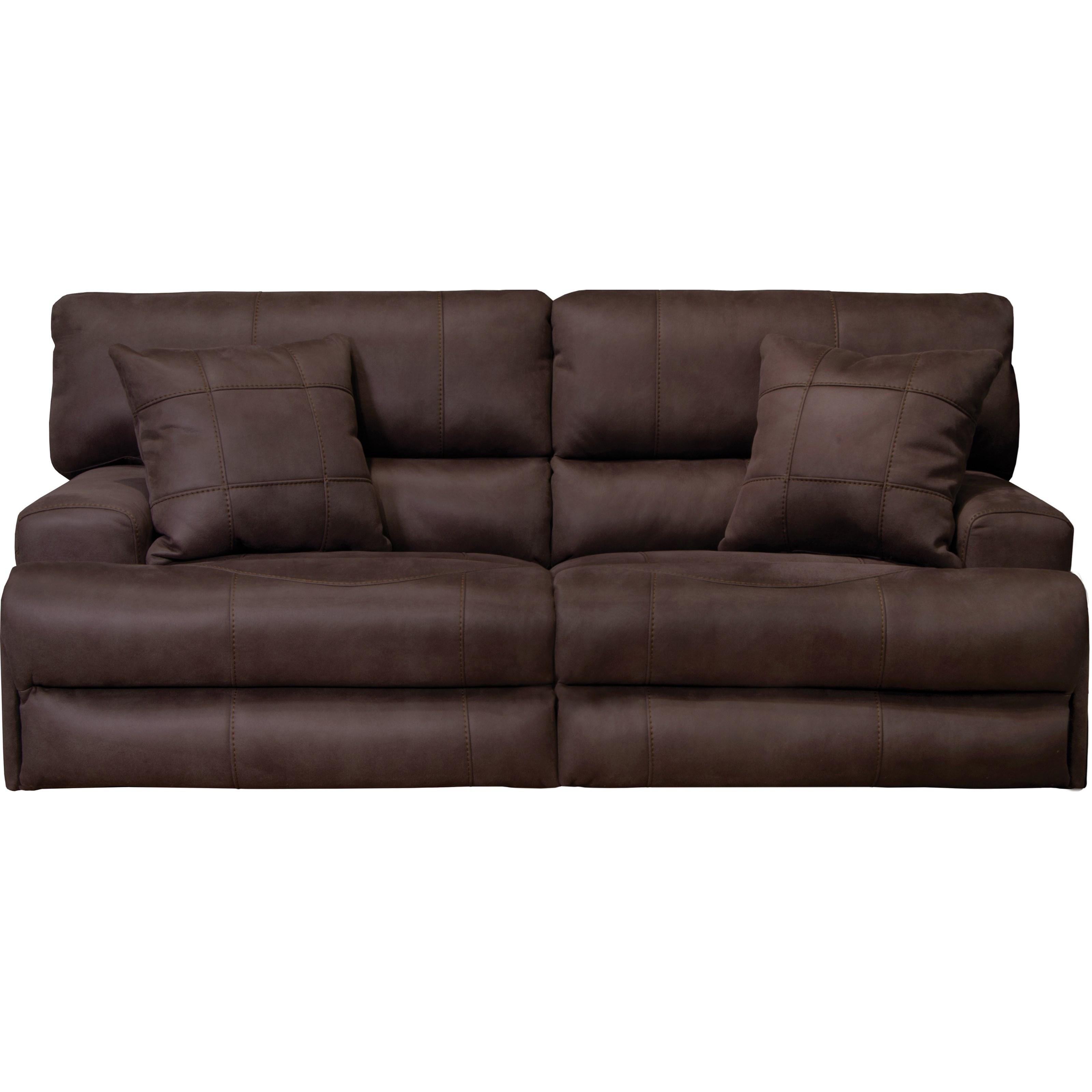 catnapper sofa indian fabric monaco power headrest lay flat reclining