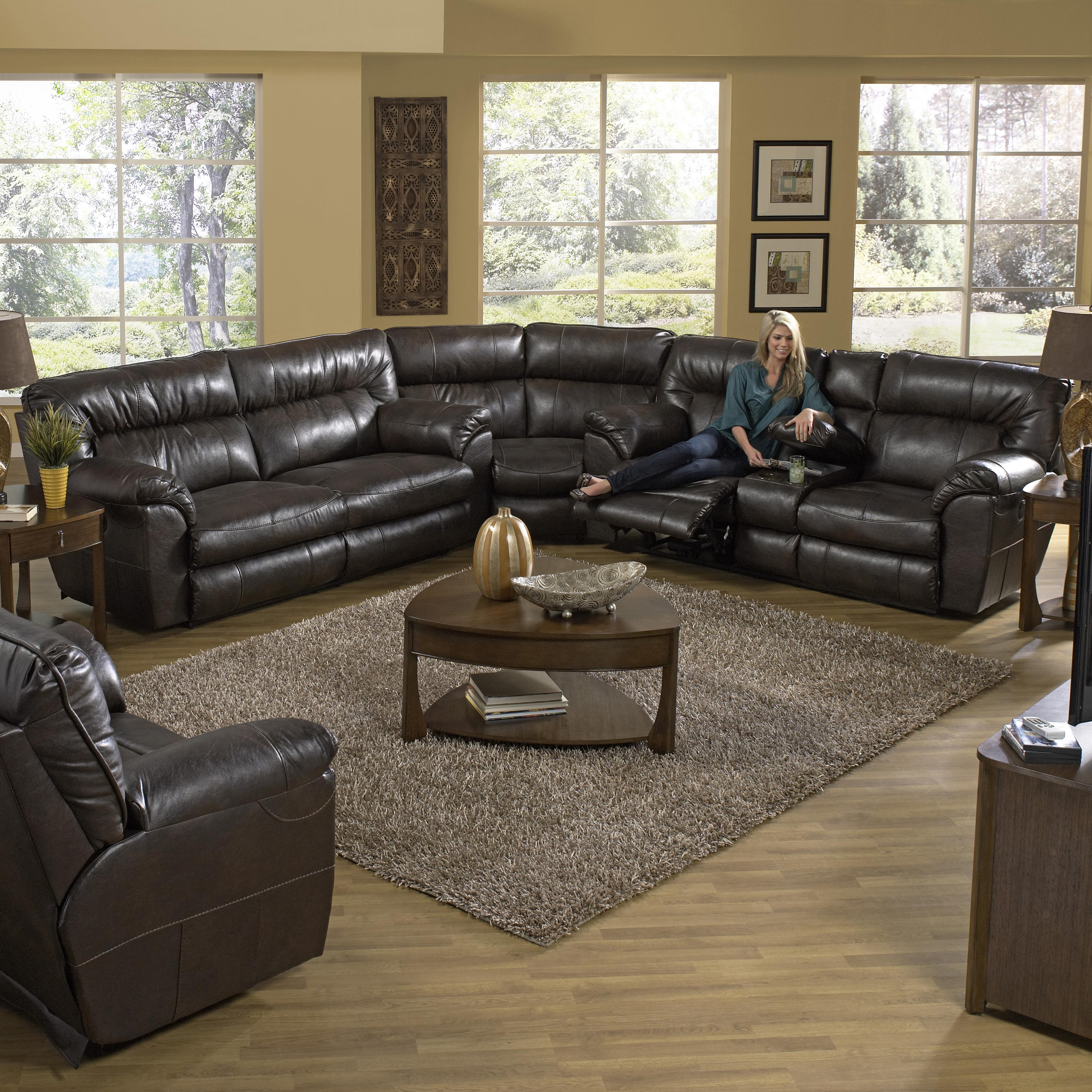 nolan power reclining sofa karlstad chaise longue catnapper sectional with right