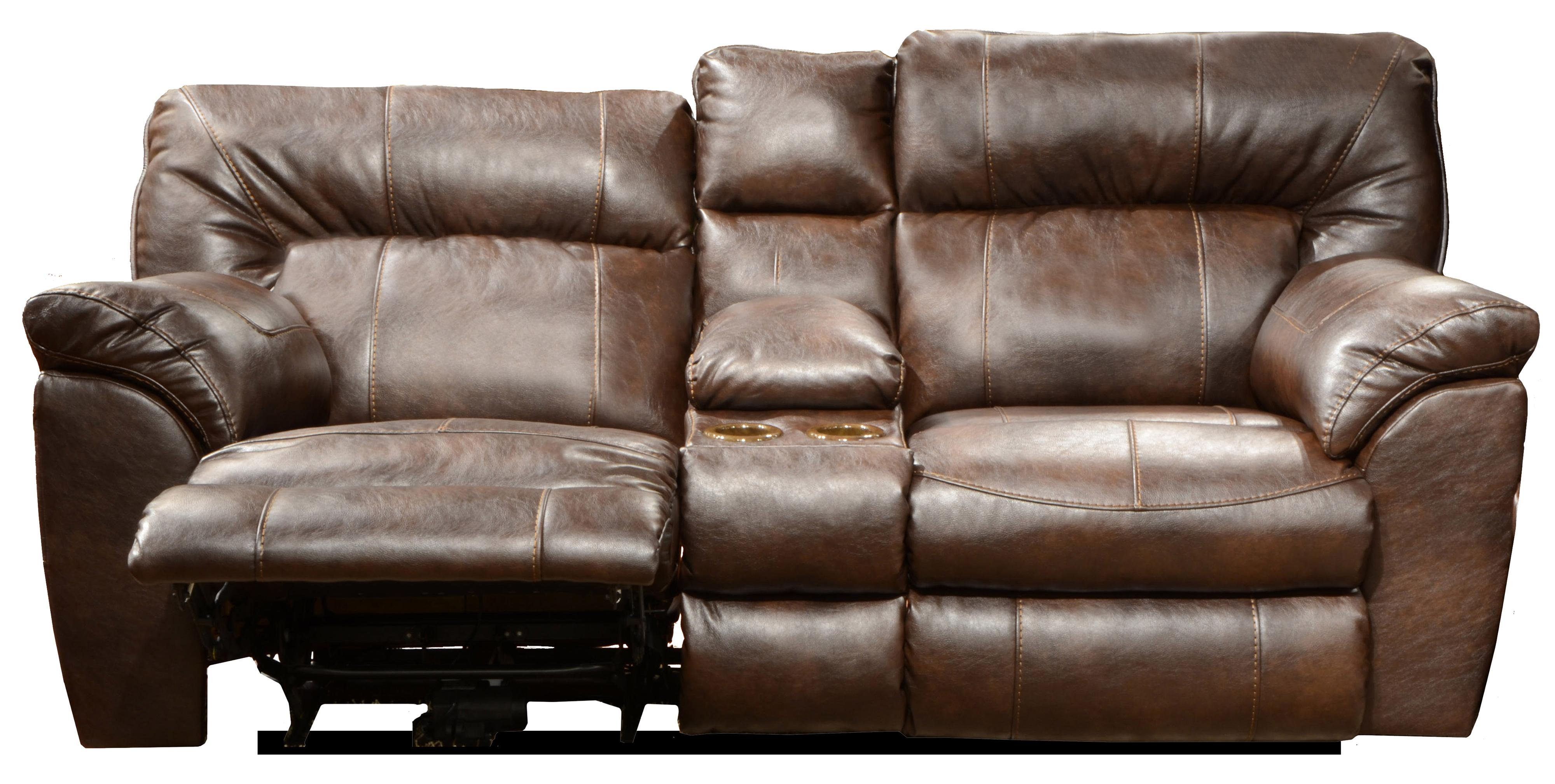 power reclining sofa with cup holders ashley set catnapper nolan extra wide console