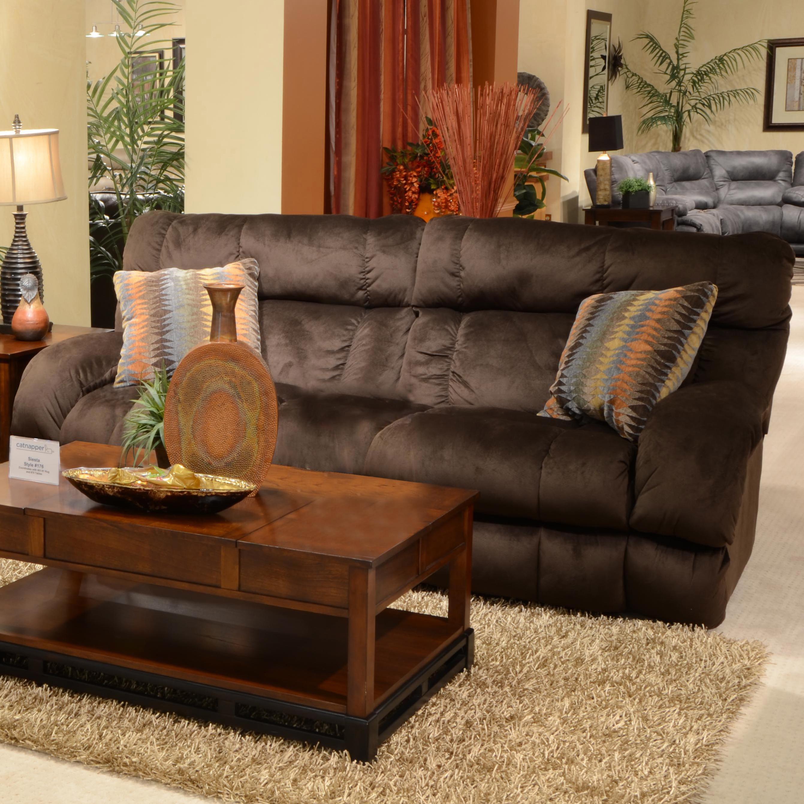 catnapper sofa narrow table uk siesta 1761 lay flat reclining with wide