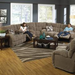 Catnapper Ranger Reclining Sectional Sofa Set Wooden Furniture Siesta With Cup Holders
