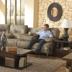 Lane Sofa With Fold Down Table Chaise Recliner Catnapper Voyager 3 Seat Quotlay Flat Quot Reclining