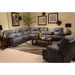 Liberty 2 Piece Sofa And Motion Loveseat Group In Grey Dallas Dining Set Catnapper Voyager Power 6 Seat Quotlay Flat Quot Reclining