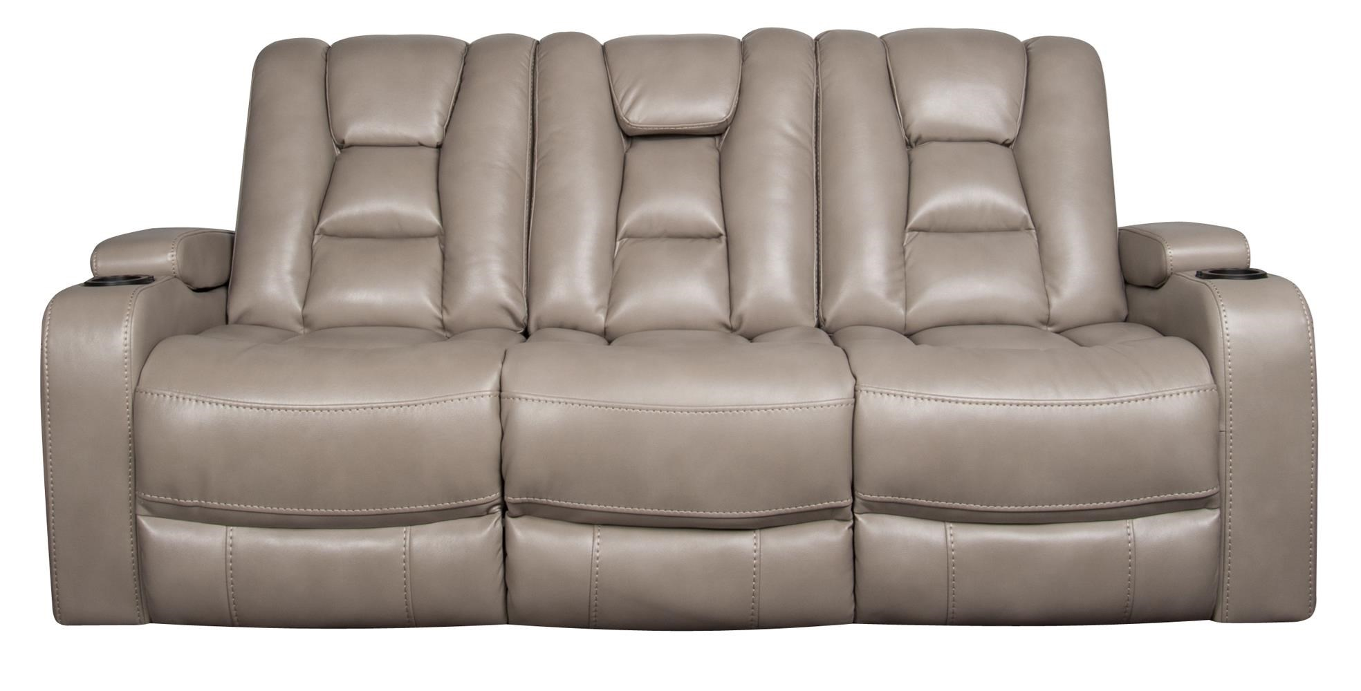 modern power reclining sofa fabric couches sofas rhinehart with headrest and