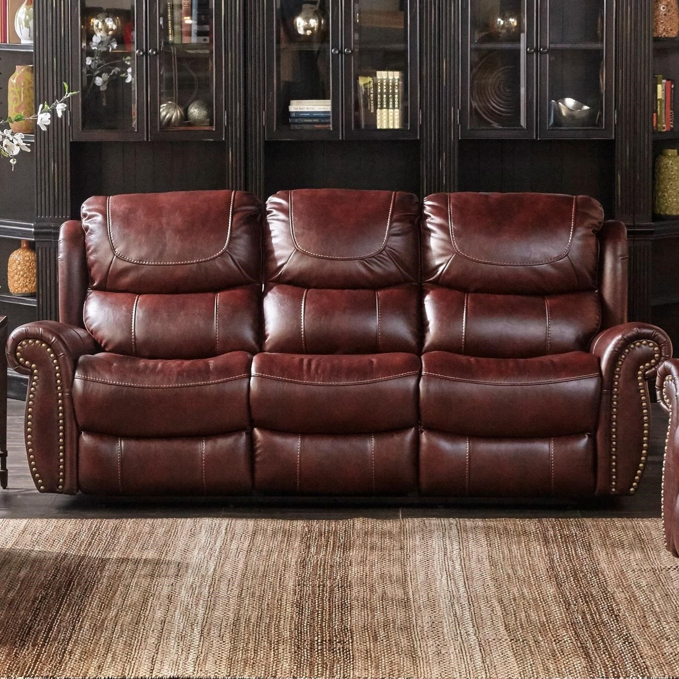 reclining sofa with nailhead trim chaise bed australia cheers xw1012m qs l3 2m dual