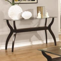 Coaster Fine Furniture Cappuccino Rectangular Console And Sofa Table Best Fabric For With Pets 70462 704629 Mid Century Modern