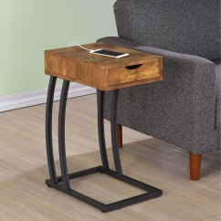 Chair Side Tables With Storage Teal Swivel Coaster Accent 900577 Chairside Table