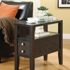 Chair Side Tables With Storage Walmart Wicker Chairs Coaster Accent 900991 Casual Chairside