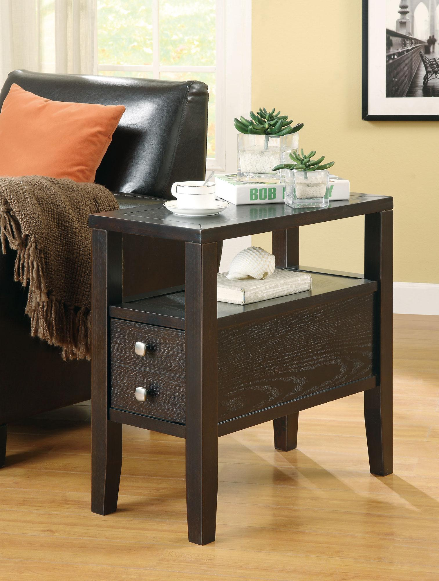 Chair Side Table With Storage Coaster Accent Tables 900991 Casual Storage Chairside
