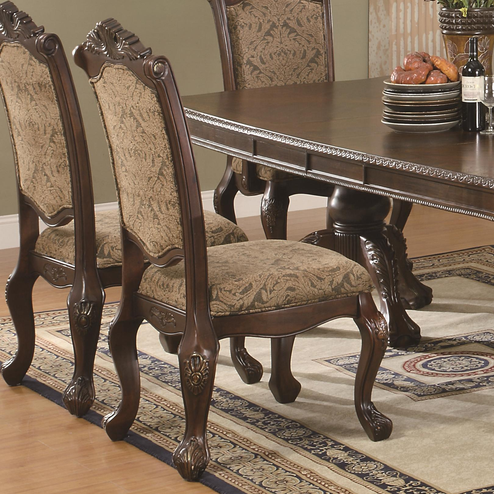Traditional Dining Room Chairs Coaster Andrea 103112 Traditional Upholstered Side Chair