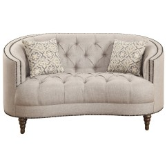 Button Tufted Sofas Andrew Martin Rebel Sofa Coaster Avonlea 505642 C Shaped Loveseat With