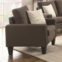 Grey Upholstered Chair White Legs Intex Inflatable Pull Out Twin Bed Mattress Sleeper Coaster Bachman 504766 With Track Arms