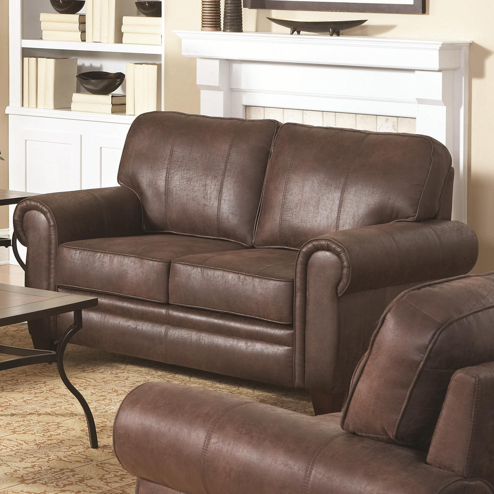 sofa deals nj lounge bed suppliers coaster bentley rustic styled loveseat with microfiber