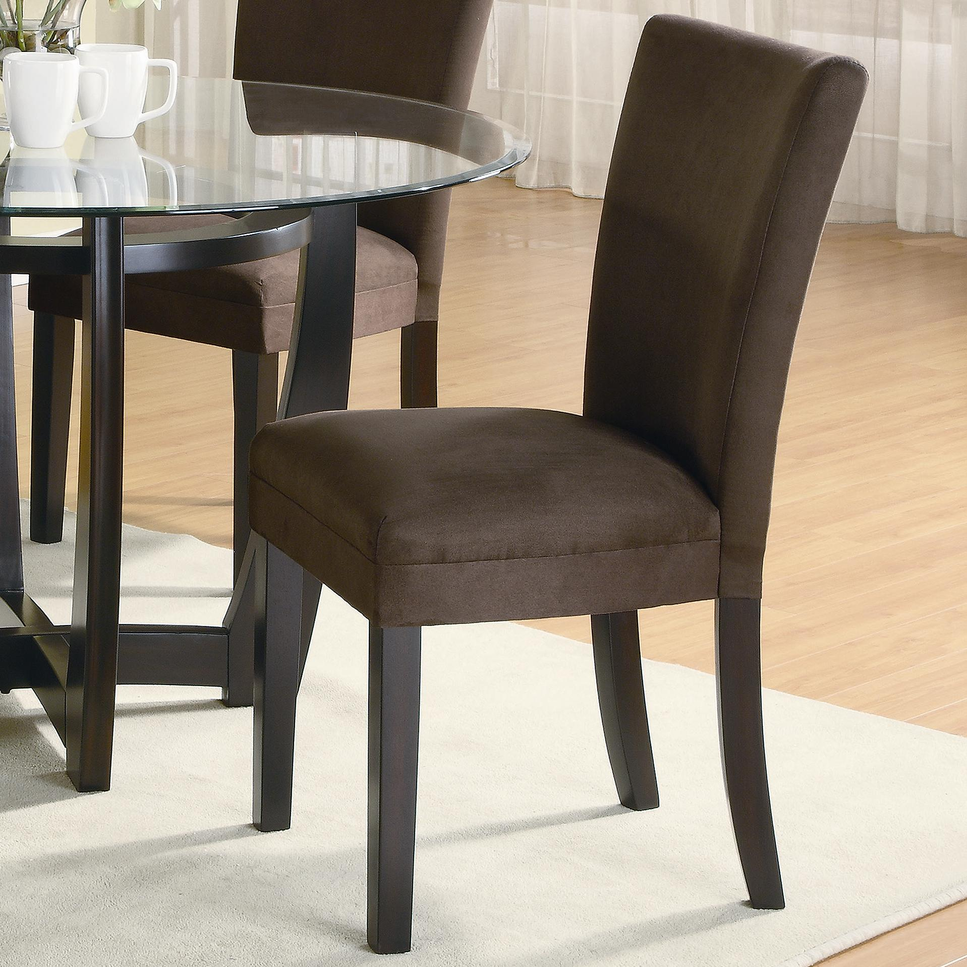Microfiber Dining Chairs Coaster Bloomfield 101496 Microfiber Parson Side Chair