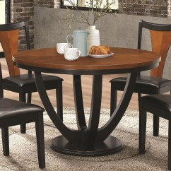 Value City Kitchen Sets Wood Top Island Coaster Boyer Contemporary Two Tone Round Table