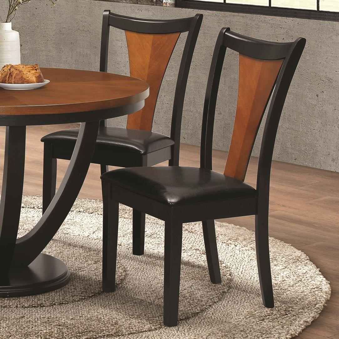 Chair Coasters Coaster Boyer 102092 Contemporary Side Chair With