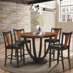 Counter Height Table And Chair Sets Cushion For Kids Coaster Boyer Contemporary 5 Piece