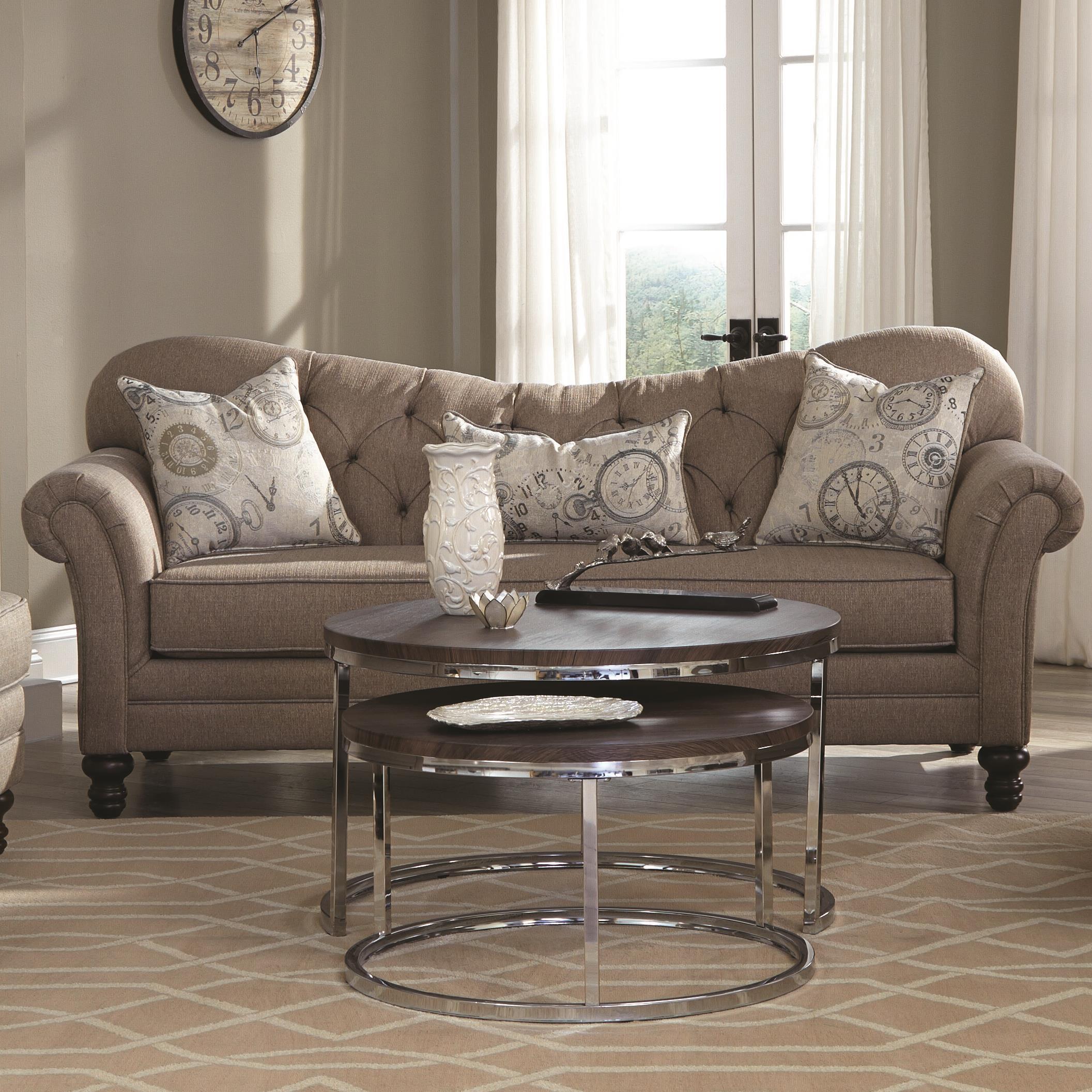 camel tufted sofa chaise fundas para sofas baratas barcelona coaster carnahan 505251 traditional with