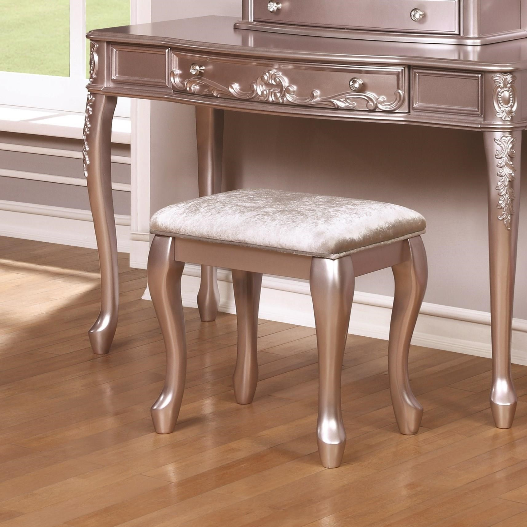 Vanity With Chair Coaster Caroline 400898 Vanity Stool With Cabriole Legs