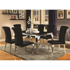 Chairs For Dining Room Set Babies R Us Table And Coaster Carone Contemporary Glam With