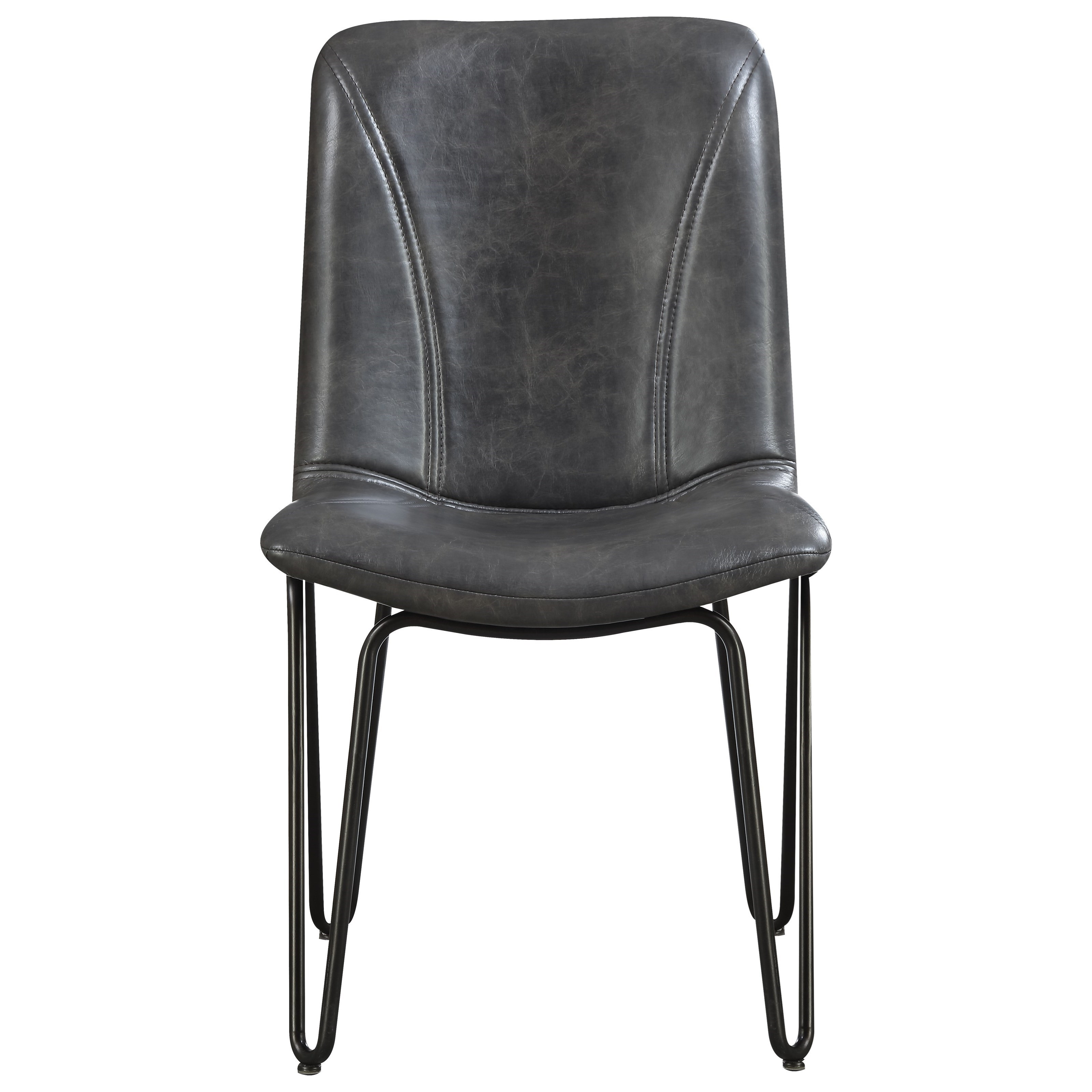 Hairpin Leg Chair Coaster Chambler 130083 Dining Chair With Leatherette Seat