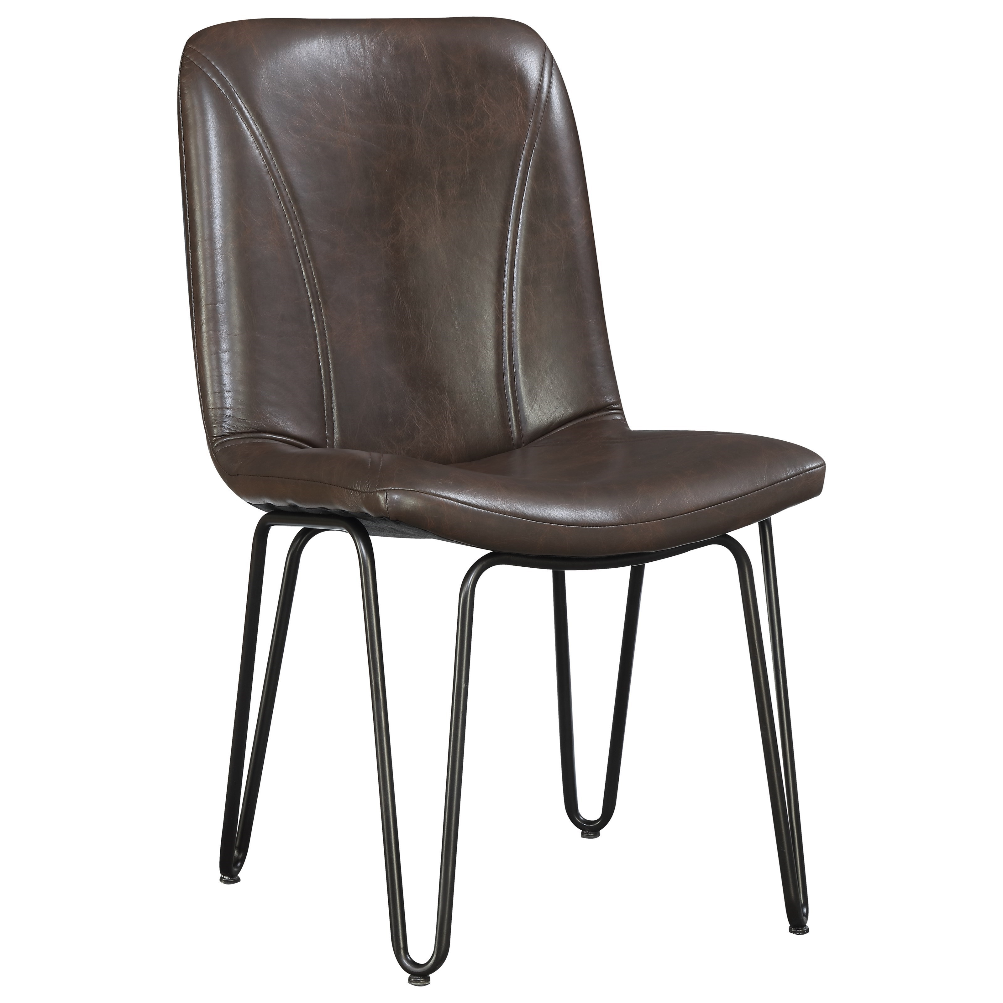 Hairpin Leg Chair Coaster Chambler 130084 Dining Chair With Leatherette Seat