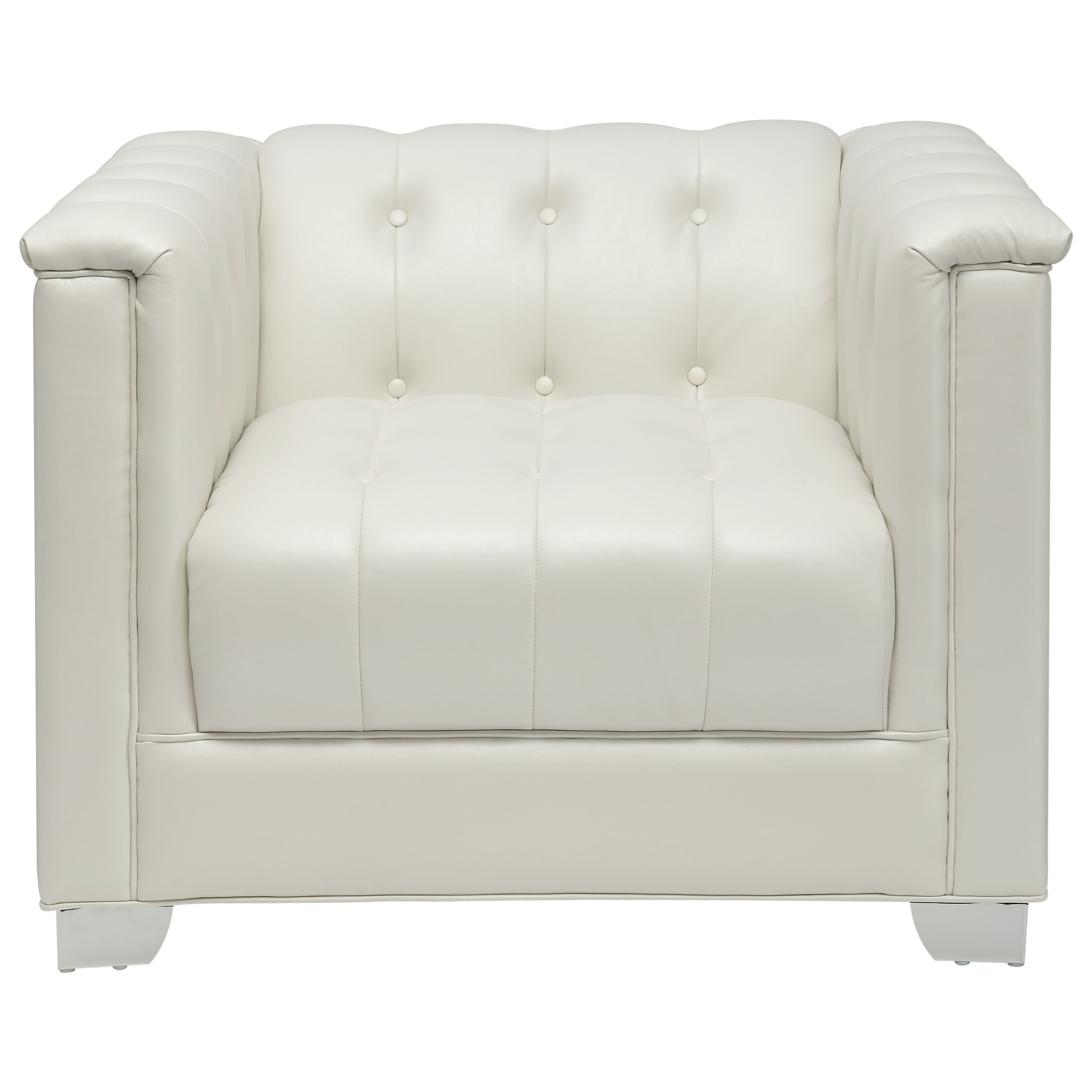 white tufted chair office ergonomic coaster chaviano low profile pearl