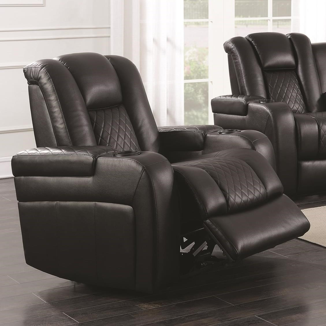 power reclining sofa with cup holders friheten bed coaster delangelo 602303p casual recliner