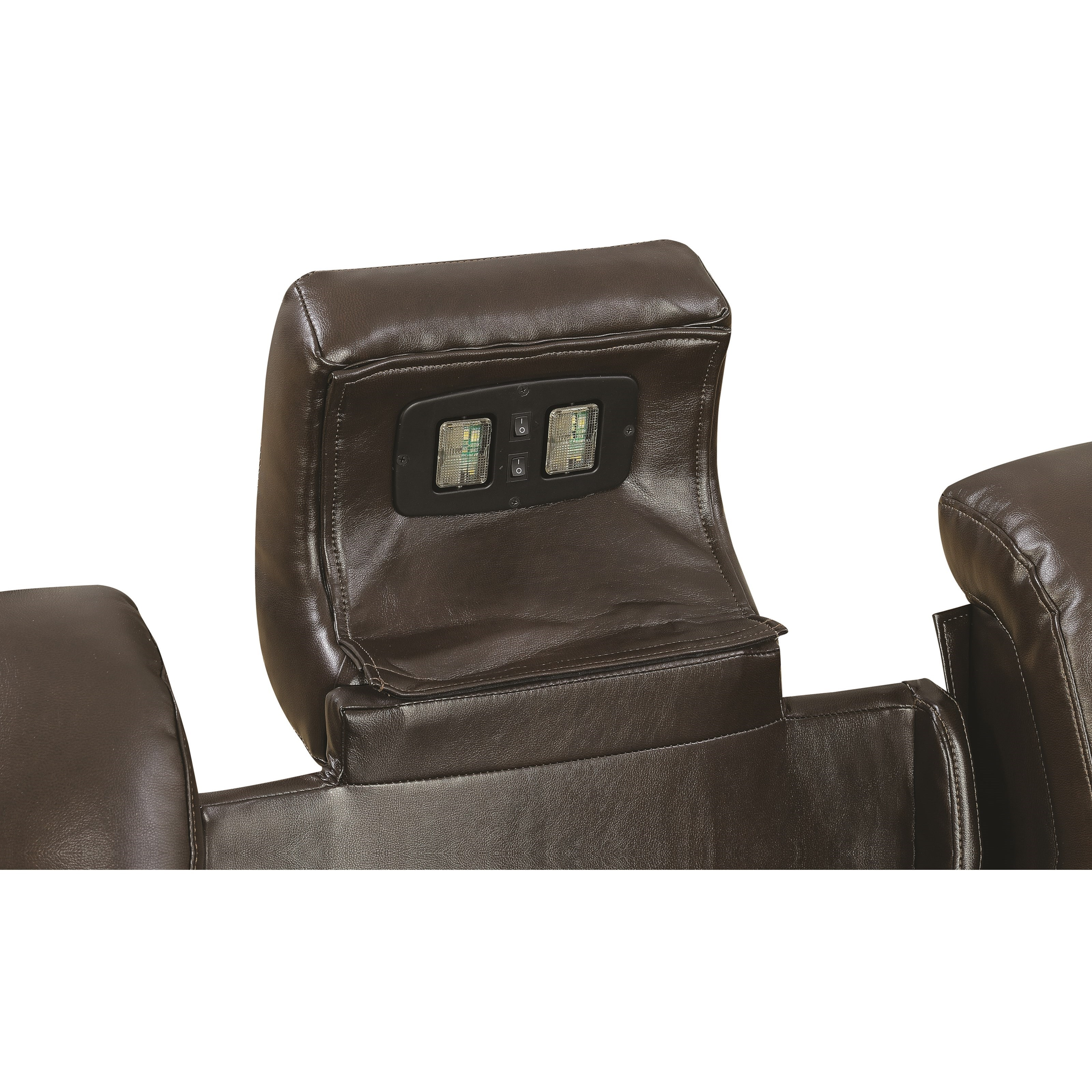 power reclining sofa with cup holders bernhardt caroline coaster delangelo 602304p casual