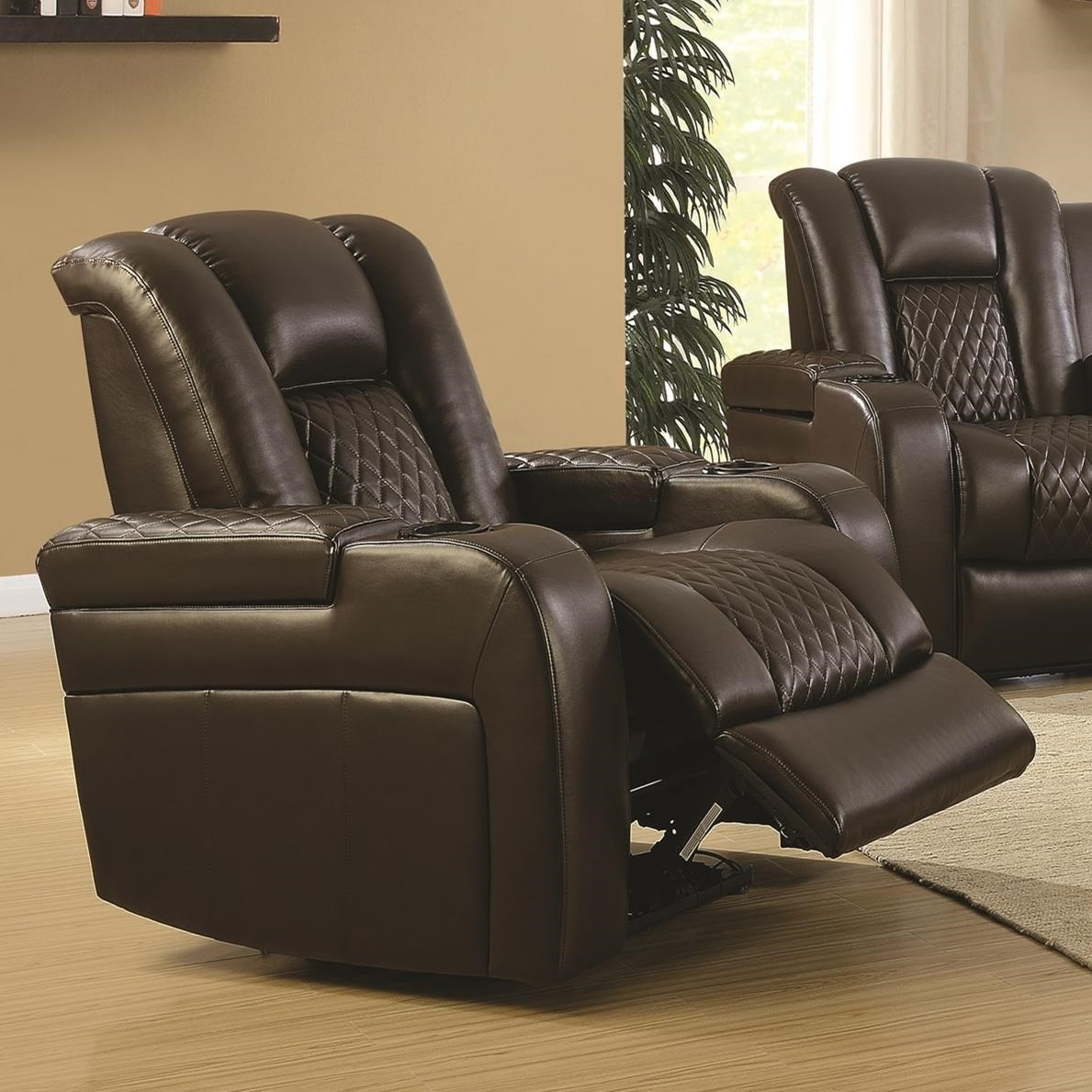 power reclining sofa with cup holders covers stretch uk coaster delangelo 602306p casual recliner