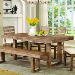 Rustic Wood Kitchen Table And Chairs Set Of 4 Coaster Elmwood Quotu Quot Base Dining Value City