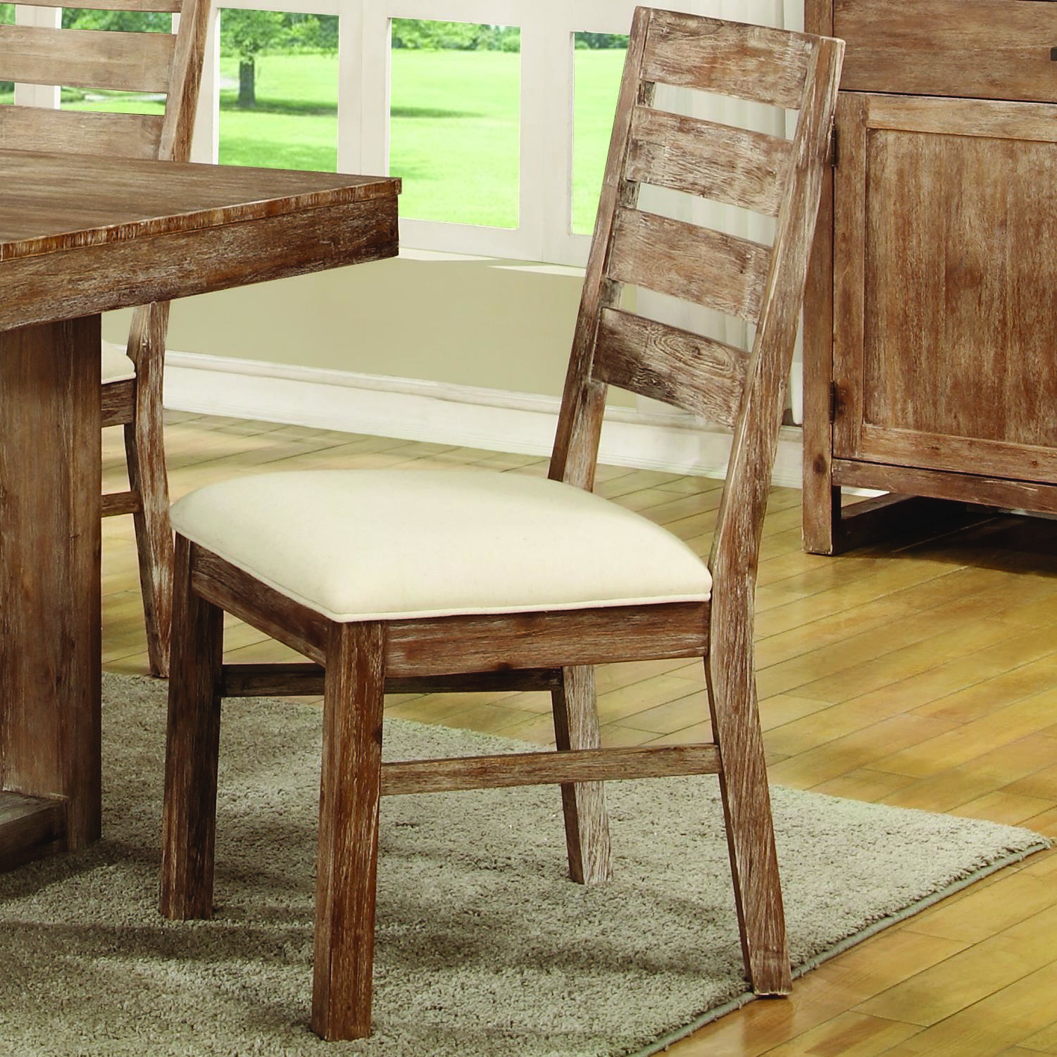 rustic dining room chairs medical lift coaster elmwood 105542 solid wood side chair del