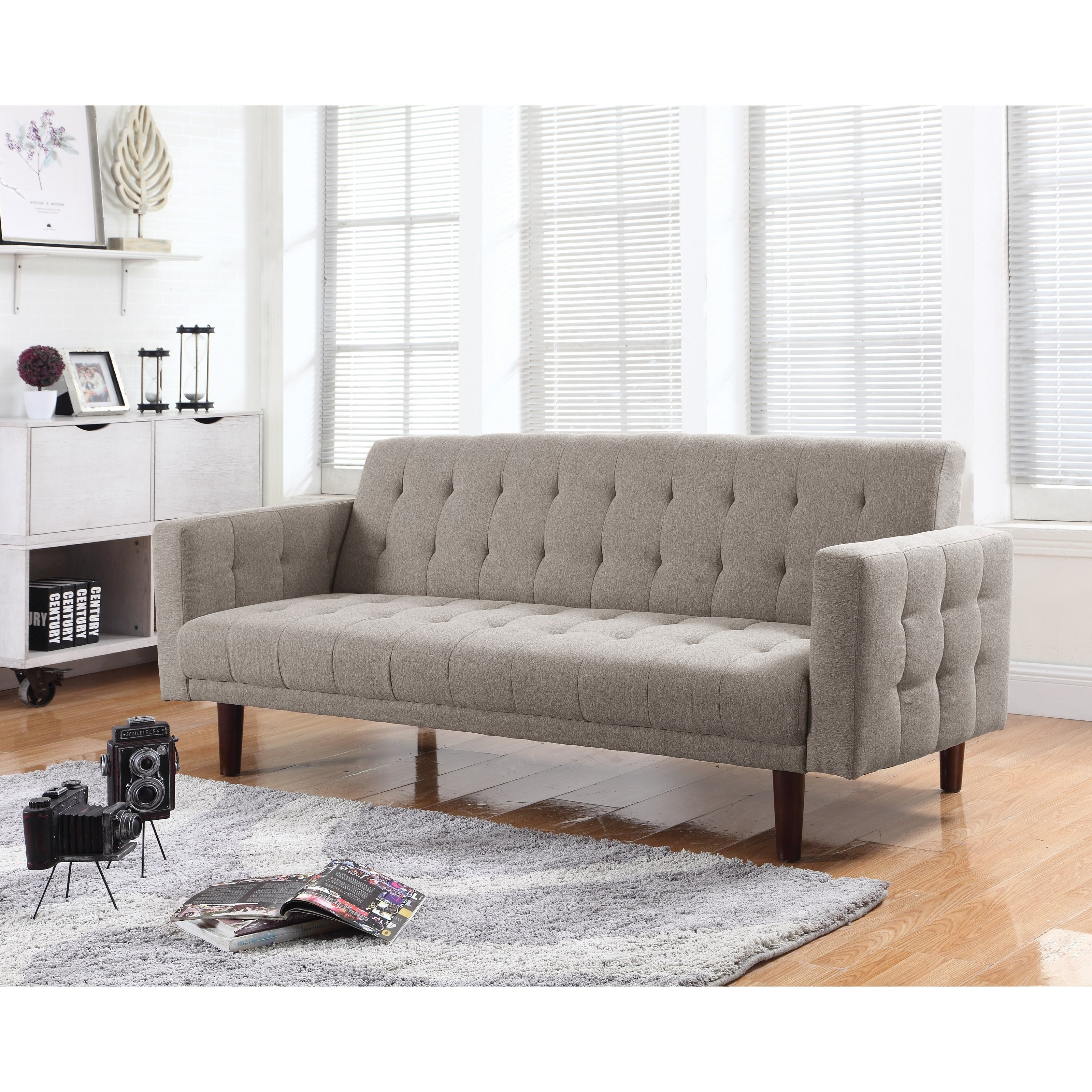 coaster futon sofa bed with removable armrests review fabric sectional and loveseat set pillows elizabeth ash