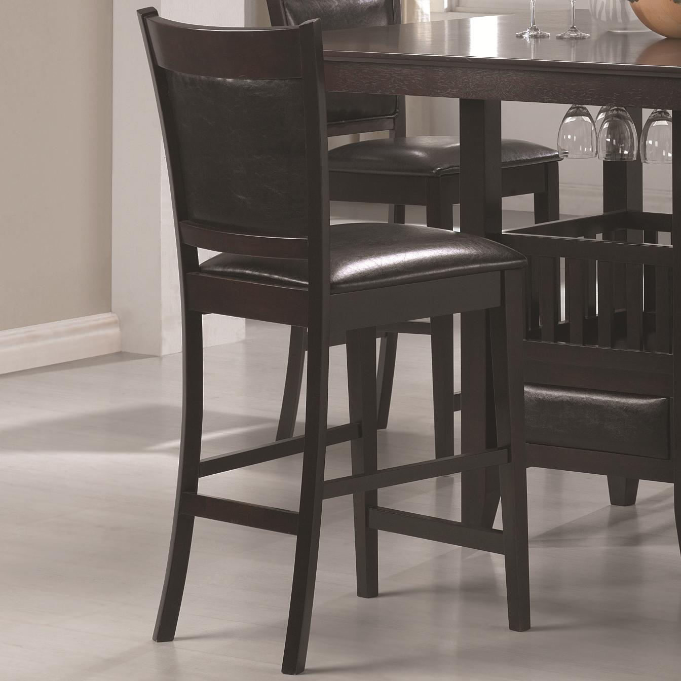 Bar Height Dining Chairs Coaster Jaden Counter Height Stool With Vinyl Padded Seat