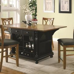 Kitchen Island With Drop Leaf Clearance High End Cabinets Brands Coaster Carts Two Tone