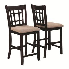 Chair Stool Counter Height Glam Dining Room Covers Coaster Lavon 105279 Casual Lattice Back