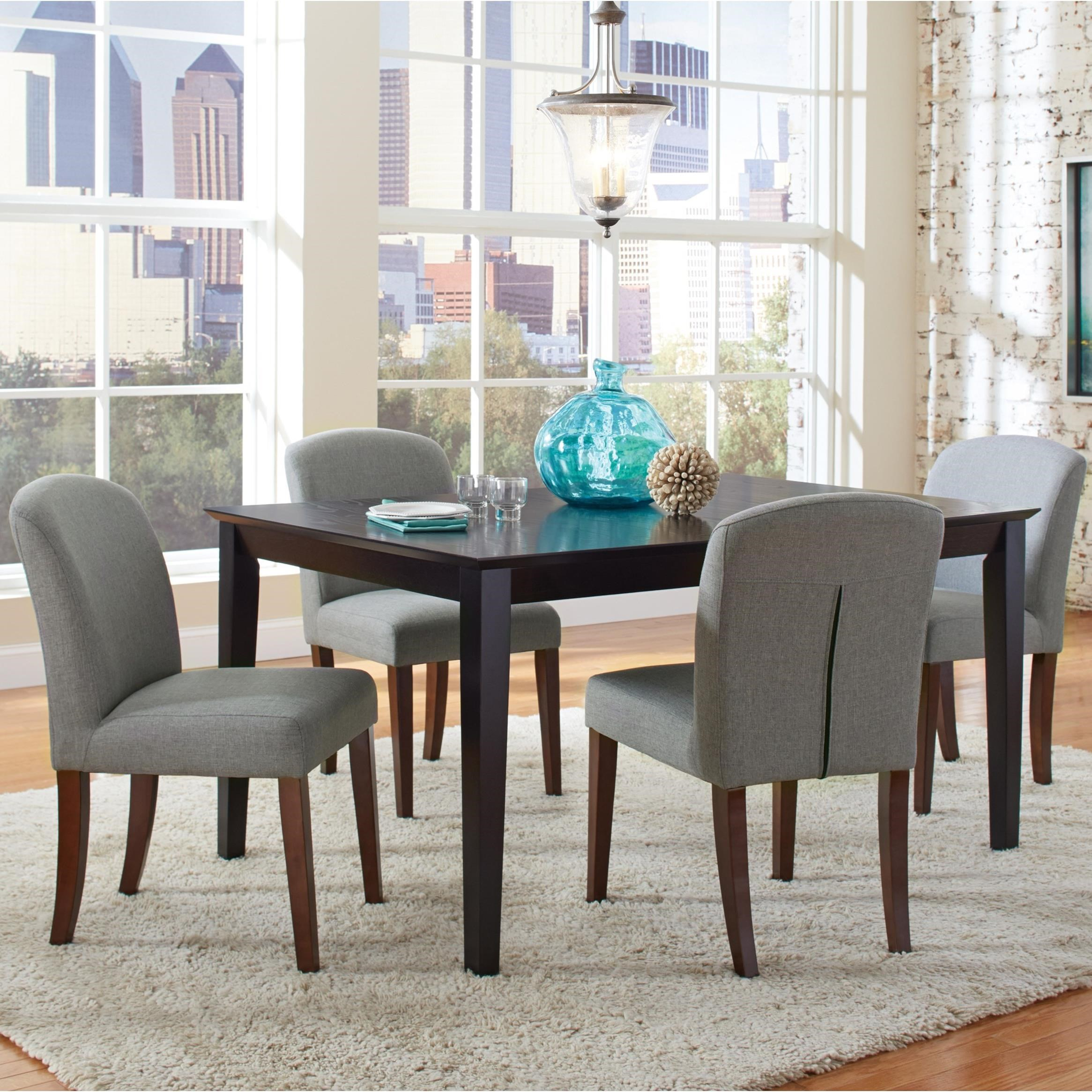 four chair dining set corduroy bean bag chairs coaster louise transitional table and