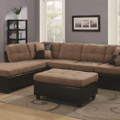Big Sofas In Small Rooms Jcpenney Oasis Darrin Leather Sofa Coaster Mallory 505675 Reversible Sectional With Casual