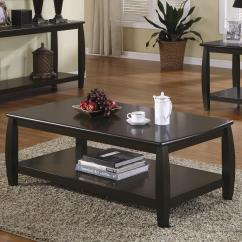 Coaster Fine Furniture Cappuccino Rectangular Console And Sofa Table Black Leather Modular Sectional Marina 701078 Coffee With 1 Shelf